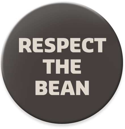 Placka šedá Respect The Bean